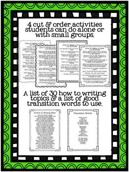 How To Writing Unit (Common Core Aligned)
