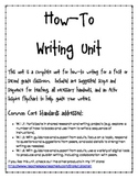 How To Writing Unit For First Grade