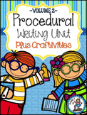 How-To Writing Unit Plus Craftivities {Procedural Writing} - VOLUME 2