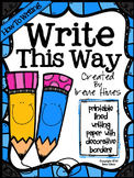 How To Writing Unit ~ Write This Way ~