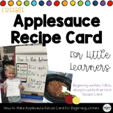 How To Writing for Kindergarten - How to Make Applesauce - Recipe Card