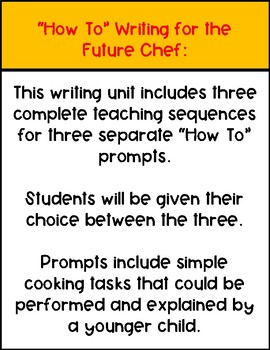 How To Writing for the Future Chef