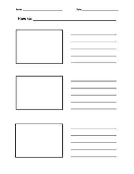 How To - Writing paper with picture boxes