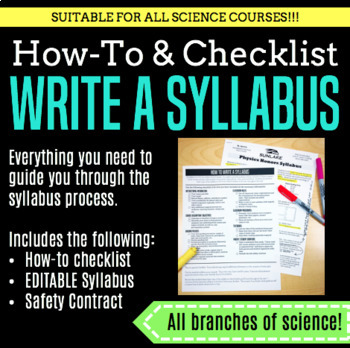 How-To and EDITABLE Syllabus with Safety Contract