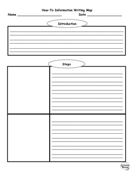 How-To or Expository Writing Template / Graphic Organizer