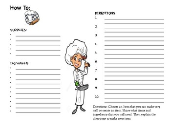 How To: worksheet for work on writing