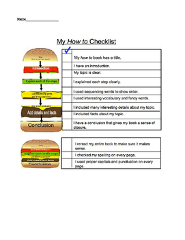 How -To writing Checklist (readygen supplement 4B)