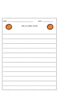 A Hands-On How-To/Sequencing Writing Activity Bundle - Hot Chocolate & Pizza
