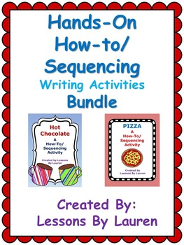 A Hands-On How-To/Sequencing Writing Activity Bundle - Hot