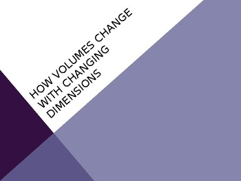 How Volumes Change with Changing Dimensions