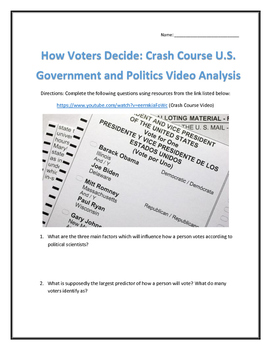 How Voters Decide: Crash Course U.S. Government and Politics Video Analysis