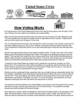 How Voting Works Article and Assignment