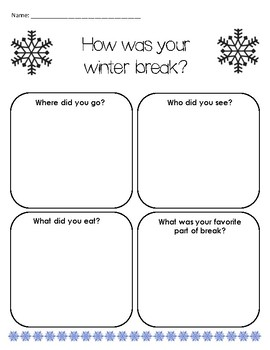 How Was Your Winter Break? Input Form