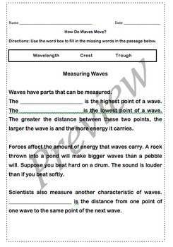 How  Waves Move Quiz