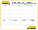 How We Get Home Printable Sheet