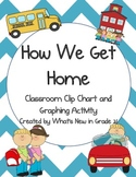 How We Get Home {Chevron Clip Chart and Graphing Activity}