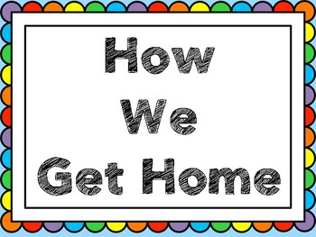 How We Get Home Clip Chart