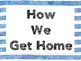How We Get Home Clip Chart: Watercolor
