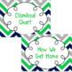 Dismissal Chart **EDITABLE** {Green, Blue, & Gray Chevron}