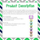 Dismissal Chart Green, Blue, & Gray Chevron **EDITABLE**