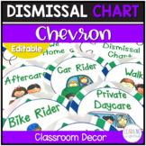 Dismissal Chart Green, Blue, & Gray Chevron **EDITABLE**