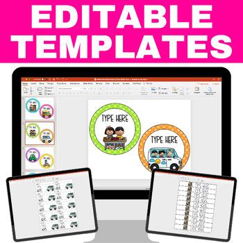 Dismissal Chart - Polka Dot Brights **EDITABLE**