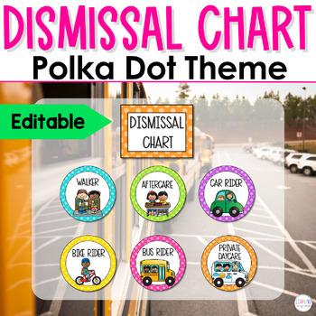 How We Get Home Dismissal Chart **EDITABLE**