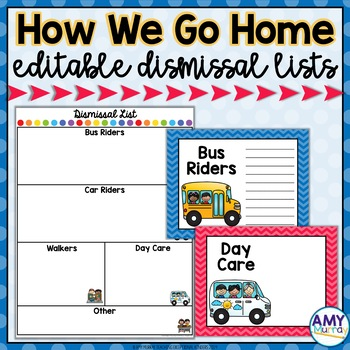 How We Get Home (Dismissal Lists and Posters)