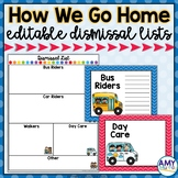 Dismissal Lists and Posters (editable!)