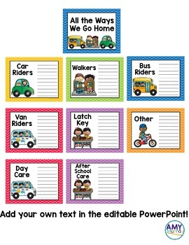 Dismissal Lists and Posters with editable templates