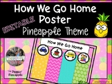 How We Get Home From School Chart EDITABLE
