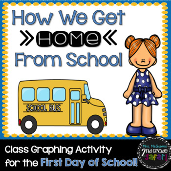 How We Get Home From School-Class Graphing Activity (with b/w pages too)