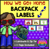 How We Get Home Backpack Labels #markdownmonday