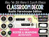 How We Get Home & Lunch Choice Clip Charts: Rustic Farmhouse Classroom Decor
