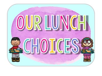 How We Get Home & Lunch Choice Clip Charts: Watercolor Classroom Decor
