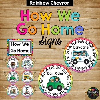How We Get Home, Student Transportation Signs, Classroom Decor
