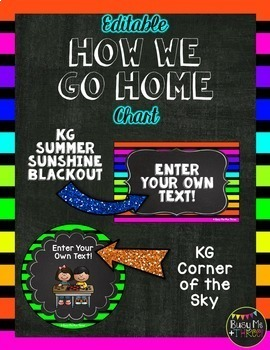 How We Get Home, Student Transportation Signs, {Neon & Chalkboard}