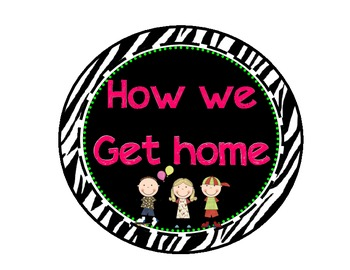 How We Get Home Zebra Theme Clip Chart
