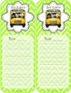 How We Get Home~Lime Green Chevron {Editable}
