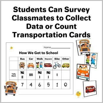 How We Go To School - Counting, Sorting, & Computer Graphing Activity