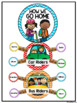 How We Go Home Clip Chart {Primary Colors Chevron Classroo