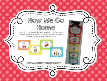 How We Go Home - A Transportation Clip Chart *NOW EDITABLE*
