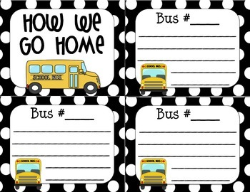 How We Go Home Dismissal Cards