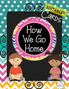 How We Go Home Editable Circles {Chalkboard Chevron Polka Dot}