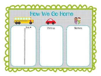 How We Go Home Chart- NO Clips Needed!