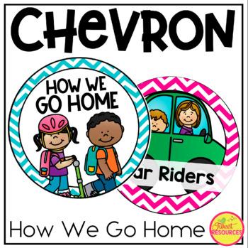 How We Go Home Clip Chart {Chevron Classroom Decor Theme}