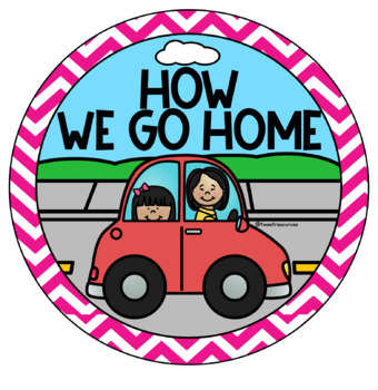 How We Go Home Clip Chart in a Chevron Classroom Decor Theme