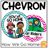 How We Go Home Clip Chart in Chevron Classroom Decor for Back To School