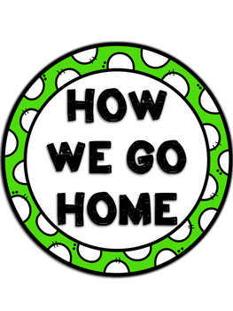 How We Go Home Clip Chart {Light Blue and Lime}