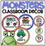 How We Go Home Clip Chart in a Monsters Classroom Decor Theme